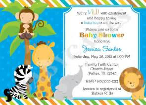 safari baby shower invitations order invitations ideas