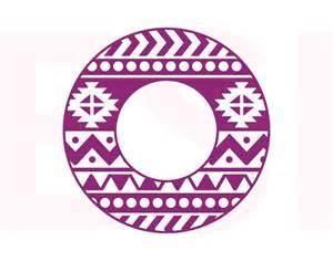 circle monogram frames aztec svg dxf and eps vinyl cut