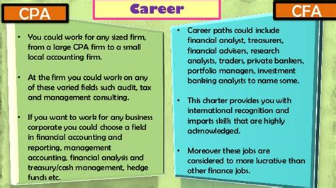 Cpa Credits For Mba by Cpa Vs Cfa
