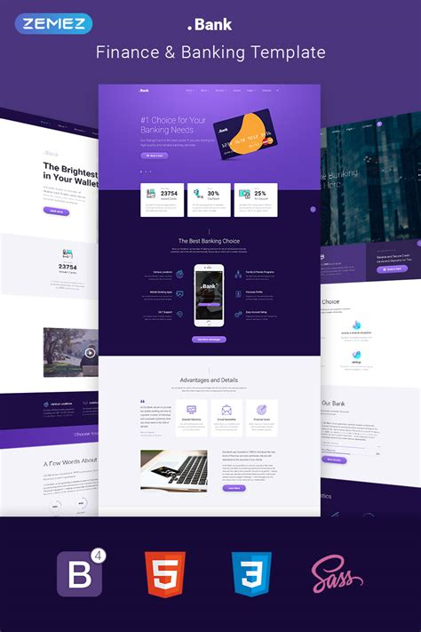 Banking Financial Multipage Html5 Template Four Page Website Template