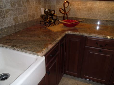 Formica Laminate Kitchen Cabinets by India Gold With Ogee Edge Kitchen Countertop Capitol Granite