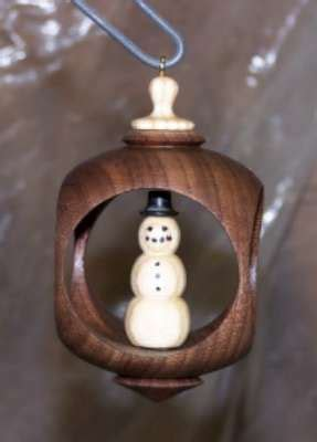 woodturning christmas decorations quot inside out quot turning alternative ornament canadian woodworking and home