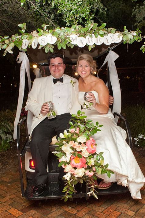 1000  images about Golf cart wedding getaway on Pinterest