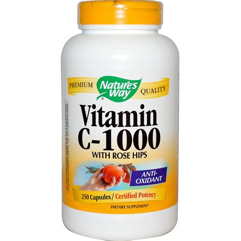 vitamin c supplement brands nature s way vitamin c 1000 with hips 250 capsules