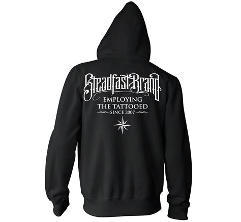 tattooed and employed hoodie perched owl s pullover hoodie black steadfast brand