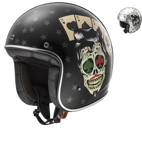 ls2 motocross helmet ls2 of583 30 bobber tattoo open face motorcycle helmet
