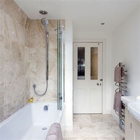 marble bathroom with shower bath decorating