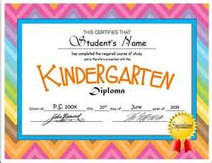 kindergarten amp pre k diploma certificate templates