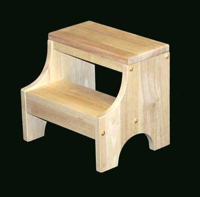 Childrens Wooden Step Stool Plans by Child S Step Stool Unfinished Bath