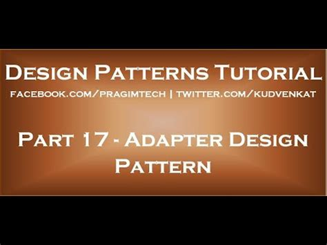 adapter design pattern youtube adapter design pattern youtube