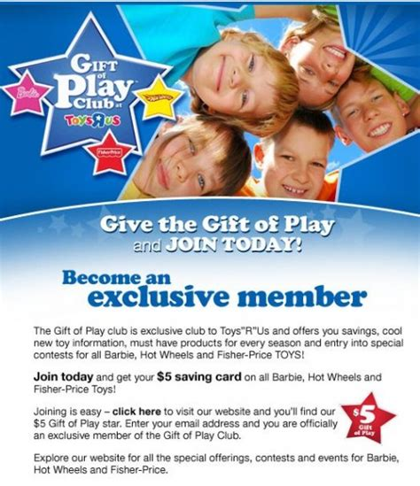 Toys R Us Canada Gift Card - toys r us canada gift of play membership 5 savings card free canadian freebies coupons