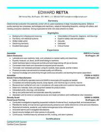 Exles Of A Resume by Exle Resume Resume Cv Exle Template