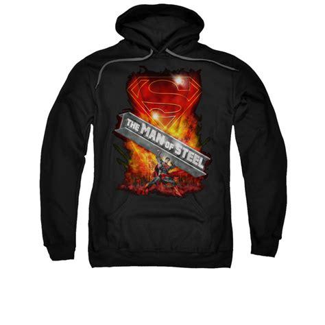Sweatshirt Superman superman hoodie steel girder black sweatshirt hoody