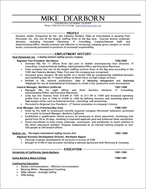 human resources resume template executive resume sle powerful executive resumes