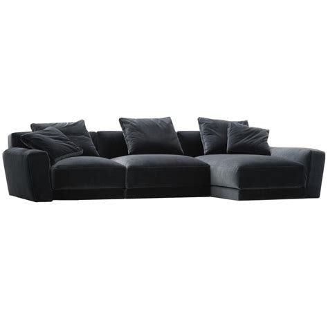 Velvet Sectional Sofa Blue Velvet Sectional Sofa David Achen Modern Blue Velvet Fabric Sectional Sofa White Gold