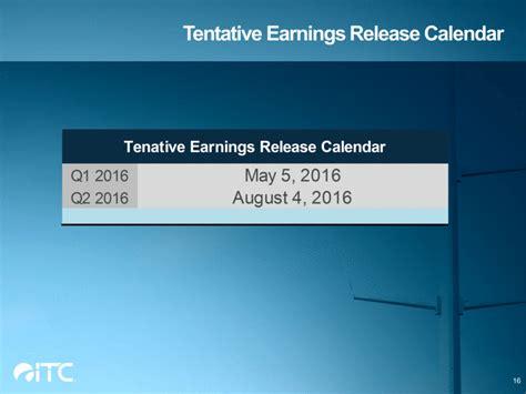 Earnings Release Calendar Graphic