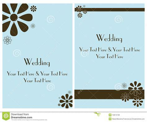 email wedding cards free 2 set wedding invitation card 2 stock vector image 12874148
