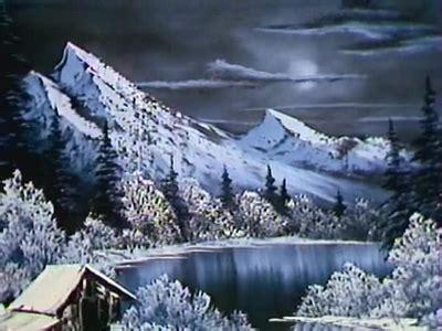 bob ross painting moon a pen by grovejay