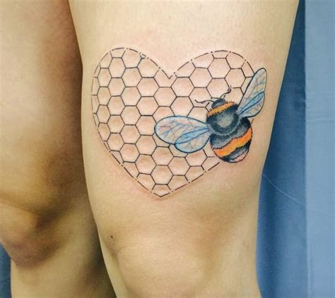 super natural tattoo closed tattoo 10 neat honeycomb tattoos tattoodo