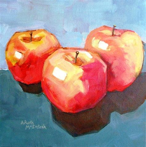 acrylic painting apple acrylic paintings by angie roth mcintosh