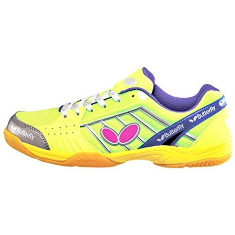 butterfly table tennis shoes amazon butterfly table tennis lezoline shoe green 9 apparel