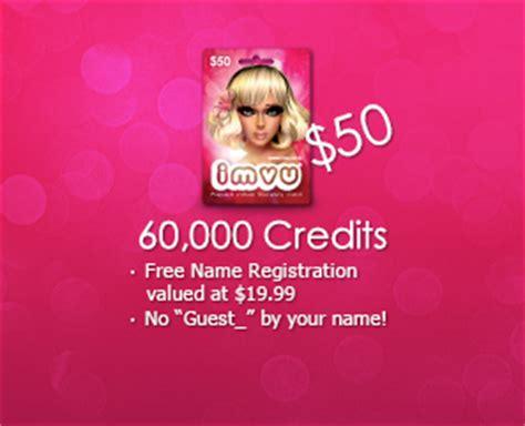 Imvu Gift Card - prepaid cards imvu