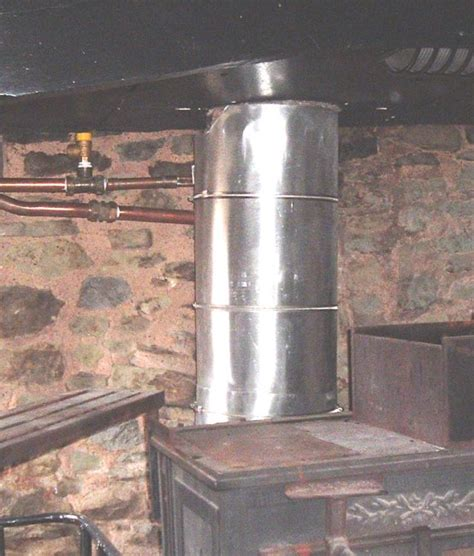 Chimney Heat Recovery System - wood burning stove flue heat recovery