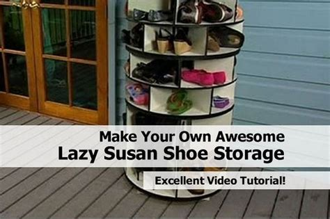 make your own shoe storage make your own awesome lazy susan shoe storage