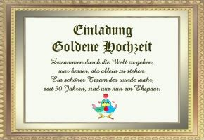 Muster Einladung Hochzeitstag Goldene Hochzeit Einladungstext Kostenlos