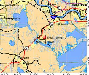 Louisiana Bayou Map by Bayou Gauche Louisiana La 70030 70080 Profile