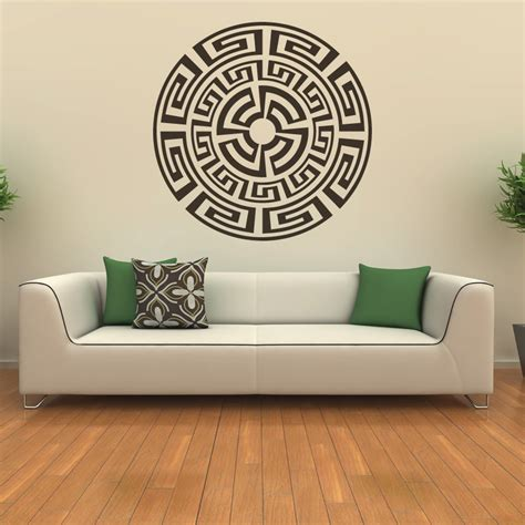 pattern wall decals uk aztec pattern around the world wall art sticker wall decal