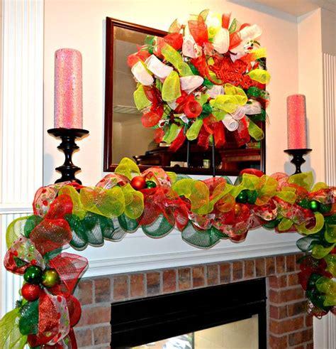 christmas garland deco mesh garland mantel decoration