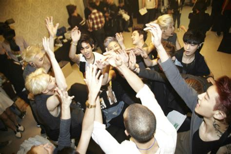 exo concert indonesia see photos of exo backstage at their first solo concert