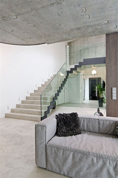 Interior Concrete Stairs Design Stairs Concrete Interior Design In Osice Republic