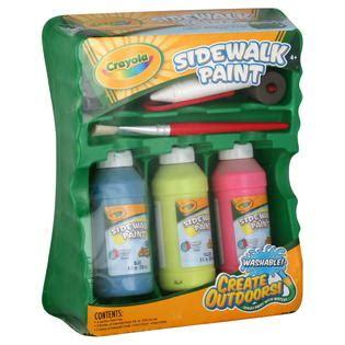 Crayola Deluxe Washable Paint Kit crayola sidewalk paint washable 1 kit toys arts crafts painting brushes