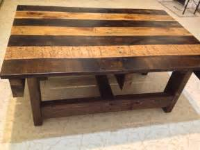 Wood Coffee Table Crafted Handmade Reclaimed Rustic Pallet Wood Coffee Table By Kevin Davis Woodwork