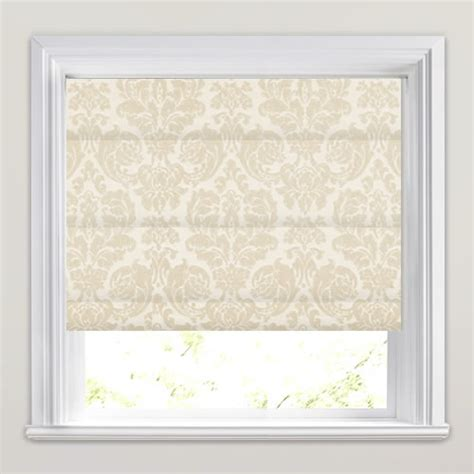 pink patterned roman blind traditional woven cream beige damask patterned roman blinds