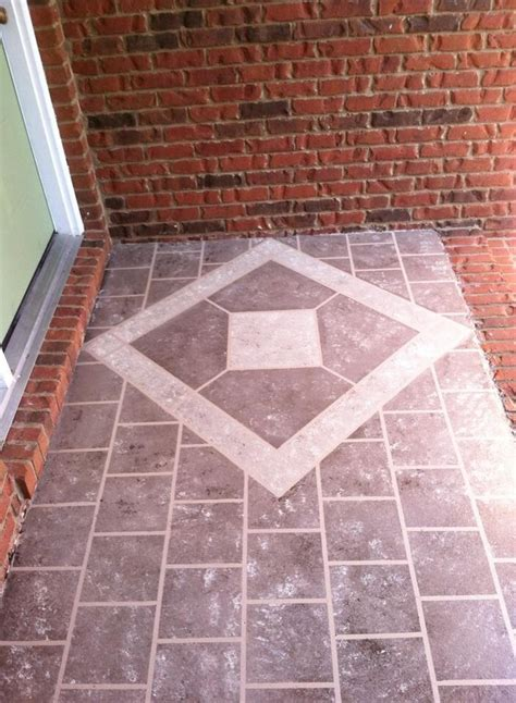 hometalk front porch faux tile