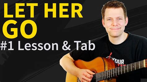 youtube tutorial let her go guitar lesson tab let her go by passenger acoustic