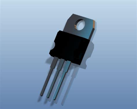 watt transistor tip 41 tip41 npn power transistor ptc creo elements stl step iges 3d cad model grabcad