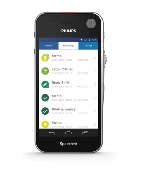 philips speechair dictation recorder  wifi  touch
