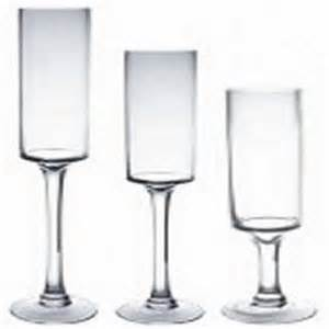 Glass Cylinder Vase Tall Stemmed Glass Candle Holders 16 Quot 20 Quot 24 Quot H X5 Quot W