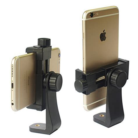 iphone tripod mount adapter universal cell phone vertical horizontal adjustable 756040607654 ebay