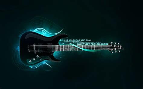 wallpaper guitar blue art neon blue gibson electric guitar 2011 free download