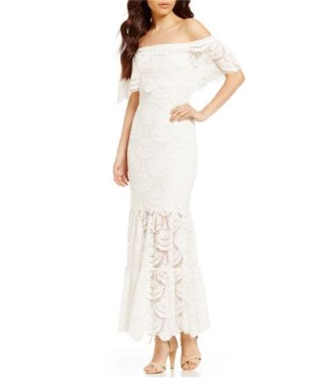 Reina Maxi Dress gianni bini reina the shoulder sleeve lace maxi