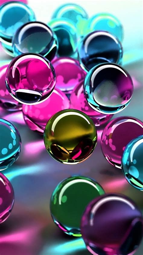 colorful glass wallpaper 3d colorful glass balls the iphone wallpapers