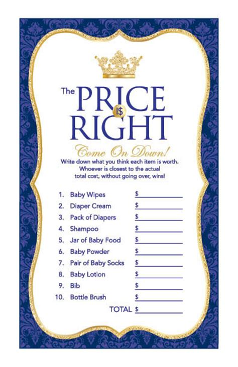 blue themed games instant download royal blue prince price is right game