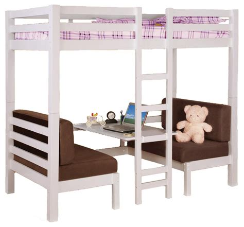 Twin Over Twin Convertible Bunk Loft Bed Youth Bunkbed