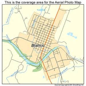 aerial photography map of blanco tx