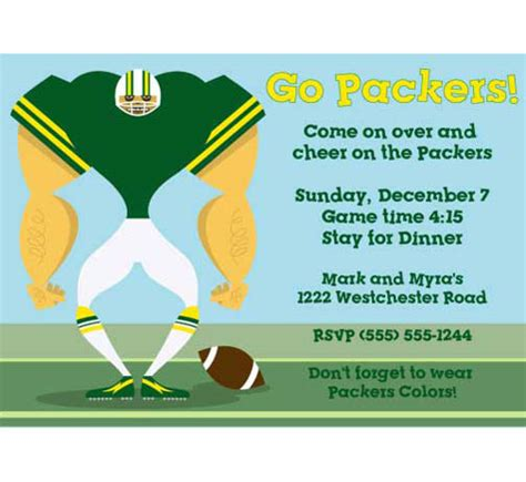 Green Bay Packers Birthday Card Template by Katherinn S Hamish Captured The Ecstatic Moment For